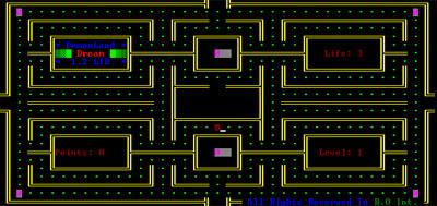 Pac-Man - Text-mode com